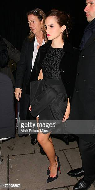 Emma Watson attending the Elle Style Awards ceremony at One Embankment on February 18 2014 in London England
