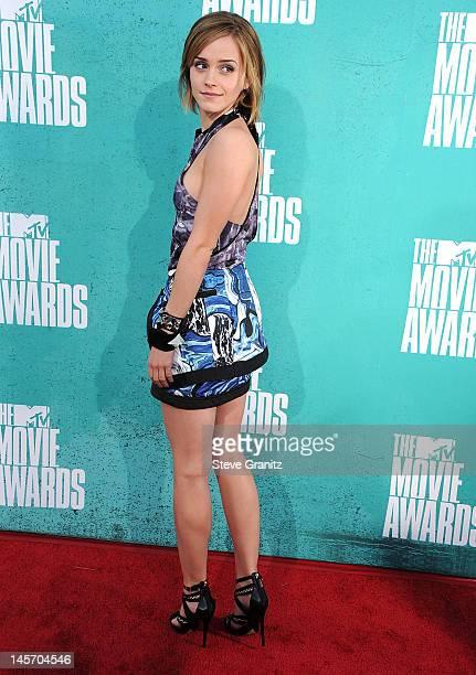 Emma Watson attends 2012 MTV Movie Awards at Gibson Amphitheatre on June 3 2012 in Universal City California