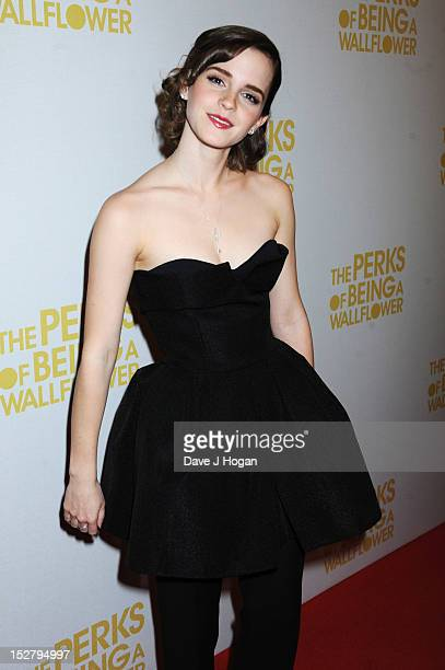 Emma Watson attends a special screening of 'The Perks Of Being A Wallflower' at The Mayfair Hotel on September 26 2012 in London England
