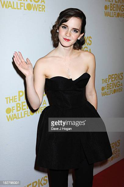 Emma Watson attends a special screening of 'The Perks Of Being A Wallflower' at The Mayfair Hotel on September 26, 2012 in London, England. .