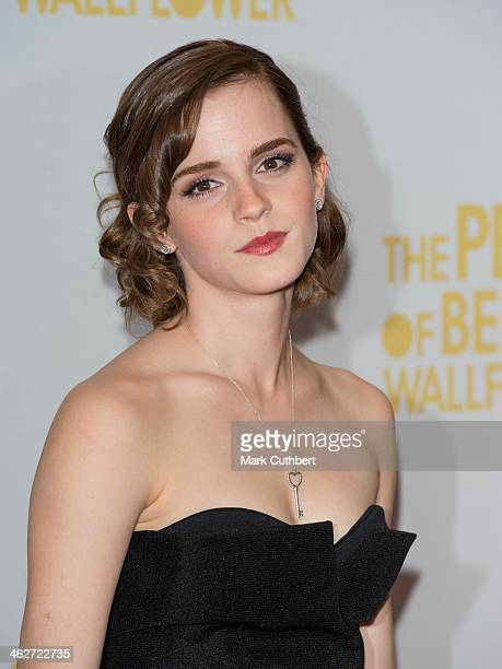 Emma Watson attends a special screening of 'The Perks of Being The Wallflower' at The Mayfair Hotel on September 26 2012 in London England