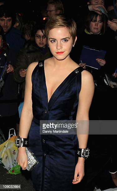 Emma Watson attends Finch Partners' preBAFTA party at Annabels on February 12 2011 in London England