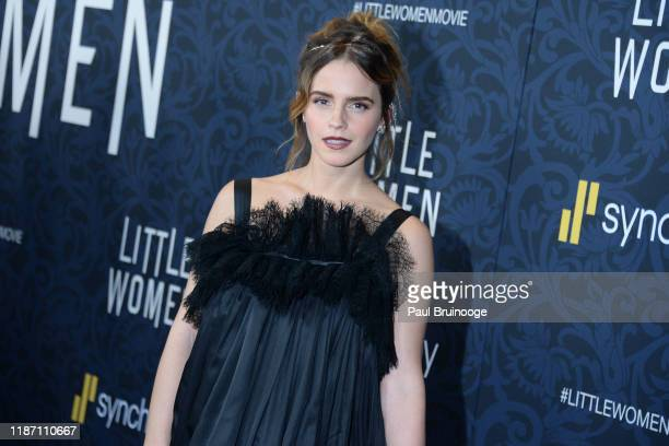 Emma Watson attends Little Women World Premiere on December 7 2019 at Museum of Modern Art in New York City