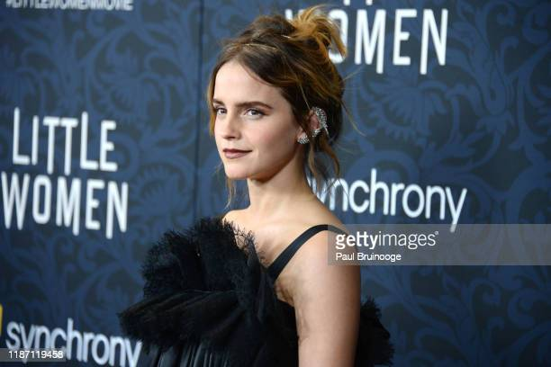 "Emma Watson attends ""Little Women"" World Premiere on December 7, 2019 at Museum of Modern Art in New York City."
