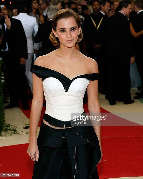 Emma Watson attends 'Manus x Machina Fashion in an Age of Technology' the 2016 Costume Institute Gala at the Metropolitan Museum of Art on May 02...