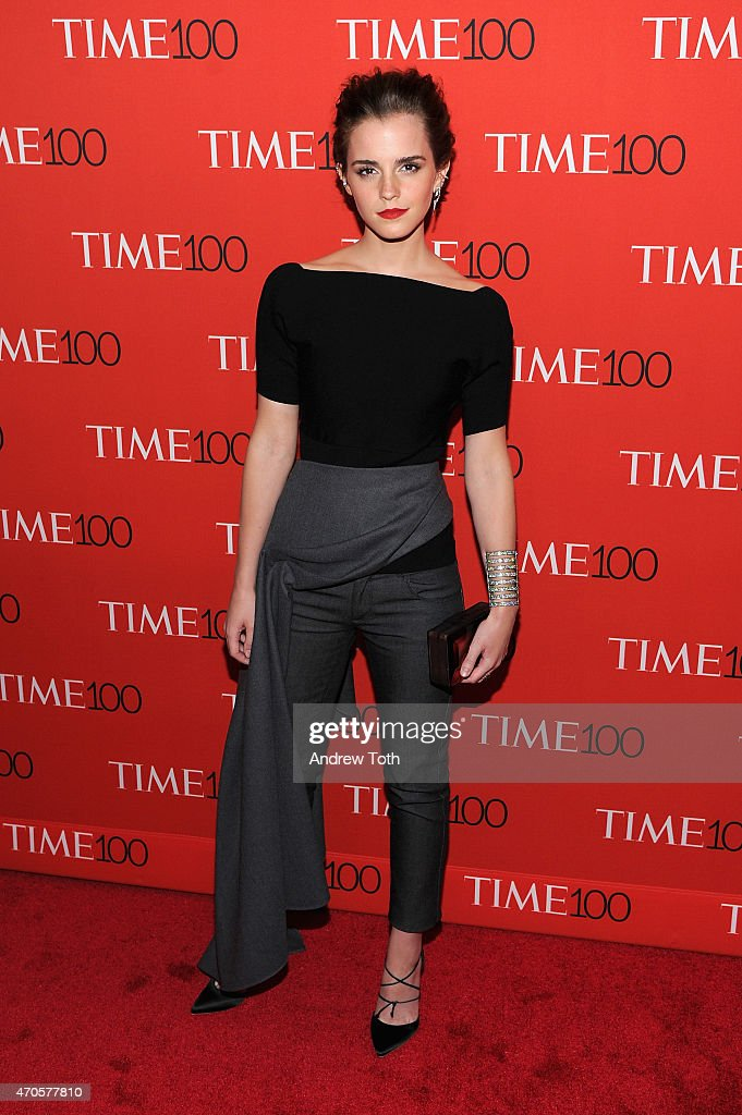 Emma Watson attends the 2015 Time 100 Gala at Frederick P. Rose Hall, Jazz at Lincoln Center on April 21, 2015 in New York City.