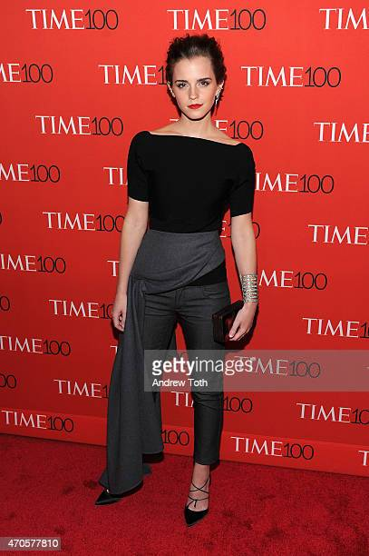 Emma Watson attends the 2015 Time 100 Gala at Frederick P Rose Hall Jazz at Lincoln Center on April 21 2015 in New York City