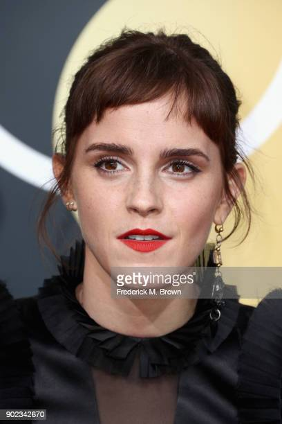 Emma Watson attends The 75th Annual Golden Globe Awards at The Beverly Hilton Hotel on January 7 2018 in Beverly Hills California
