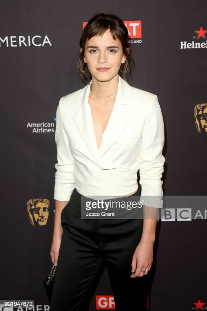 Emma Watson attends The BAFTA Los Angeles Tea Party at Four Seasons Hotel Los Angeles at Beverly Hills on January 6, 2018 in Los Angeles, California.