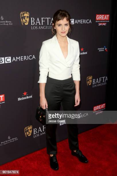 Emma Watson attends The BAFTA Los Angeles Tea Party at Four Seasons Hotel Los Angeles at Beverly Hills on January 6 2018 in Los Angeles California