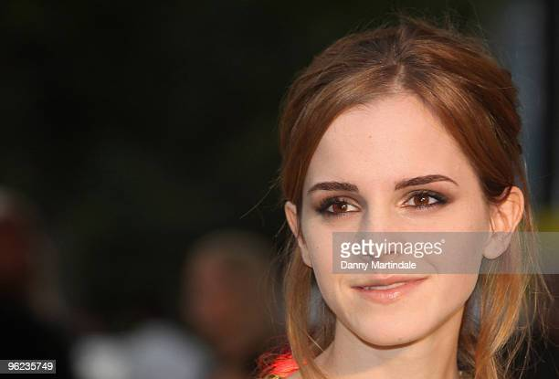 Emma Watson attends the Burberry show at London Fashion Week Spring Summer 2010 Arrivals on September 22 2009 in London United Kingdom