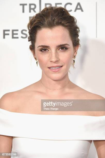 Emma Watson attends The Circle Premiere at the BMCC Tribeca PAC on April 26 2017 in New York City