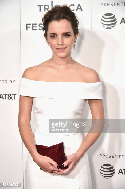 "Emma Watson attends ""The Circle"" Premiere at the BMCC Tribeca PAC on April 26, 2017 in New York City."