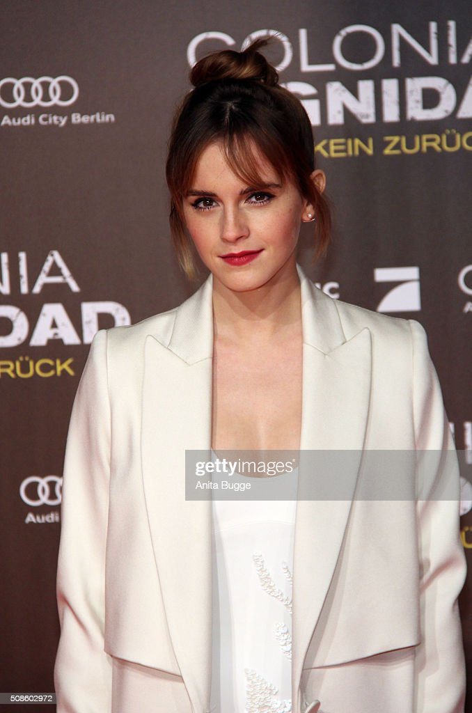 Emma Watson attends the 'Colonia Dignidad - Es gibt kein zurueck' Berlin premiere at CineStar on February 5, 2016 in Berlin, Germany.