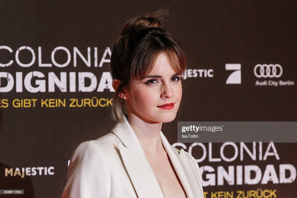 Emma Watson attends the 'Colonia Dignidad - Es gibt kein zurueck' Berlin Premiere on February 05, 2016 in Berlin, Germany.