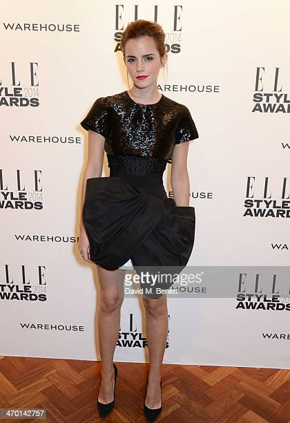 Emma Watson attends the Elle Style Awards 2014 at One Embankment on February 18 2014 in London England