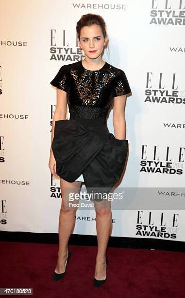 Emma Watson attends the Elle Style Awards at one Embankment on February 18 2014 in London England