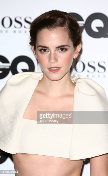 Emma Watson attends the GQ Men of the Year awards at The Royal Opera House on September 3 2013 in London England