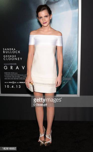 "Emma Watson attends the ""Gravity"" New York premiere at AMC Lincoln Square Theater on October 1, 2013 in New York City."