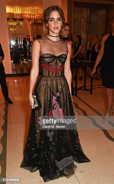 Emma Watson attends the Harper's Bazaar Women of the Year Awards 2016 at Claridge's Hotel on October 31 2016 in London England