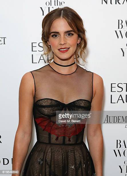 Emma Watson attends the Harper's Bazaar Women of the Year Awards 2016 at Claridge's Hotel on October 31, 2016 in London, England.