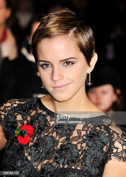 Emma Watson attends the Harry Potter And The Deathly Hallows Part 1 World film premiere at Odeon Leicester Square on November 11 2010 in London...