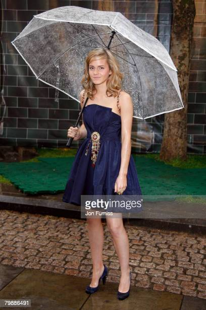 Emma Watson attends the 'Harry Potter And The Order Of The Phoenix' UK premiere held at the Odeon Leicester Square on July 3 2007 in London