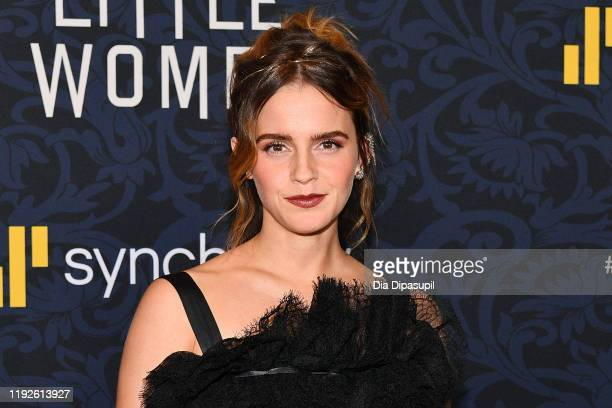 Emma Watson attends the Little Women World Premiere at Museum of Modern Art on December 07 2019 in New York City