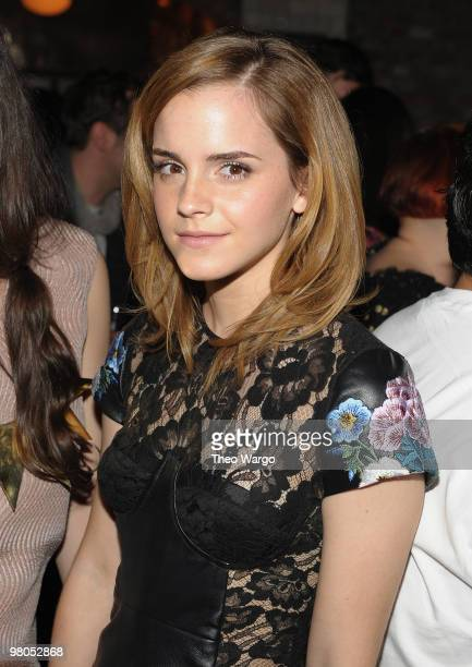 Emma Watson attends the LONDON show ROOMS New York cocktail party at Pulinos on March 25 2010 in New York City