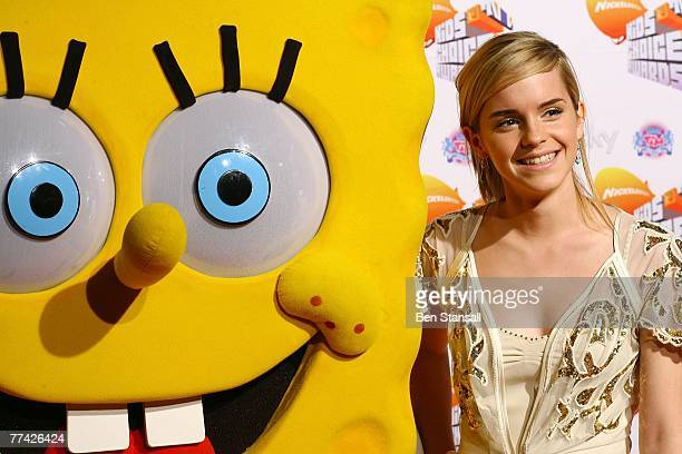 Emma Watson attends the Nickelodeon Kids Choice Awards UK at the the Excel Arena on October 20 2007 in London England
