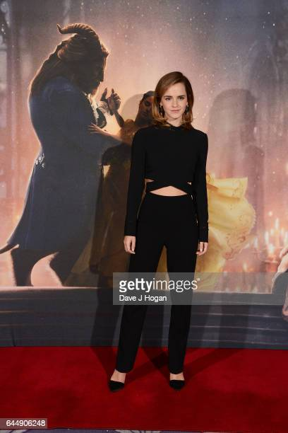Emma Watson attends the photocall for Beauty And The Beast at The Corinthia Hotel on February 24 2017 in London England