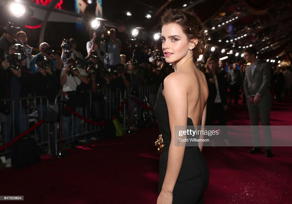 """Premiere Of Disney's """"Beauty And The Beast"""" - Red Carpet : News Photo"""