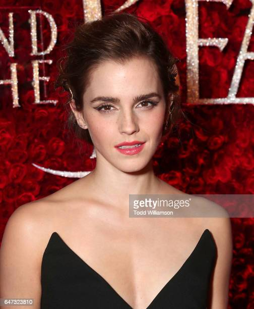 Emma Watson attends the premiere of Disney's 'Beauty And The Beast' at El Capitan Theatre on March 2 2017 in Los Angeles California