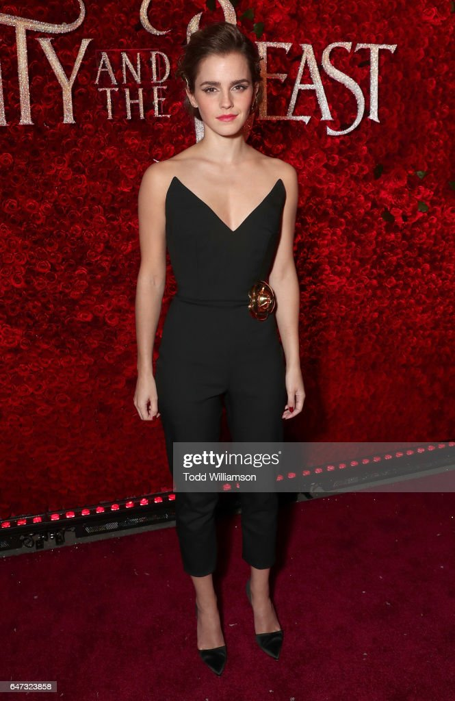Emma Watson attends the premiere of Disney's 'Beauty And The Beast' at El Capitan Theatre on March 2, 2017 in Los Angeles, California.