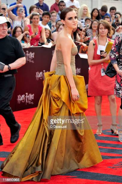 Emma Watson attends the premiere of Harry Potter and the Deathly Hallows Part 2 at Avery Fisher Hall Lincoln Center on July 11 2011 in New York City