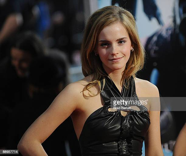 "Emma Watson attends the premiere of ""Harry Potter and the Half-Blood Prince"" at Ziegfeld Theatre on July 9, 2009 in New York City."