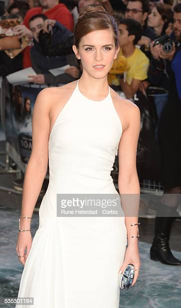 Emma Watson attends the premiere of 'Noah' at Odeon Leicester Square