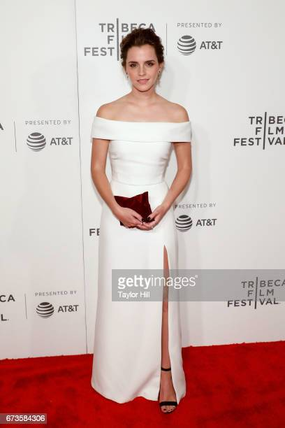 "Emma Watson attends the premiere of ""The Circle"" during the 2017 Tribeca Film Festival at Borough of Manhattan Community College on April 26, 2017 in..."