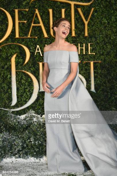 Emma Watson attends the UK launch event for 'Beauty And The Beast' at Spencer House on February 23 2017 in London England