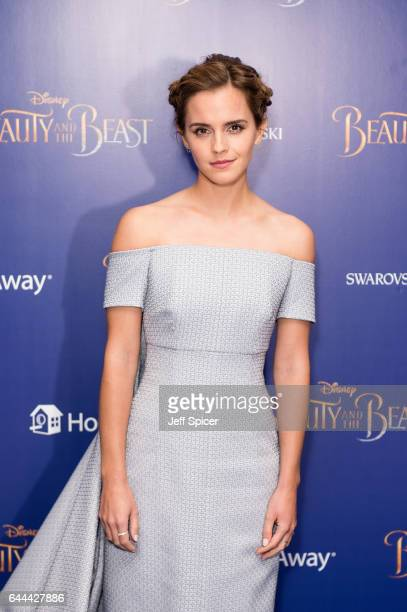 Emma Watson attends the UK Launch Event of 'Beauty And The Beast' at Odeon Leicester Square on February 23 2017 in London England