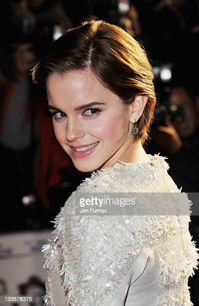 Emma Watson attends the UK premiere of My Week with Marilyn at Cineworld Haymarket on November 20 2011 in London England