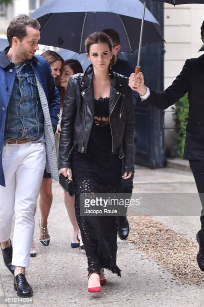 Emma Watson attends the Valentino show as part of Paris Fashion Week Haute Couture Fall/Winter 20142015 at Hotel Salomon de Rothschild on July 9 2014...