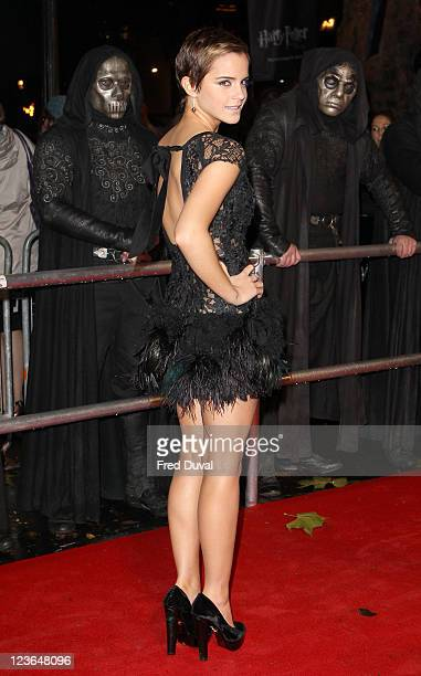 Emma Watson attends the world premiere of Harry Potter and The Deathly Hallows part 1 at Odeon Leicester Square on November 11 2010 in London England