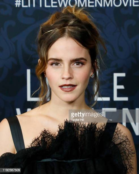 "Emma Watson attends the world premiere of ""Little Women"" at Museum of Modern Art on December 07, 2019 in New York City."