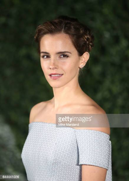 "Emma Watson attends UK launch event for ""Beauty And The Beast"" at Spencer House on February 23, 2017 in London, England."