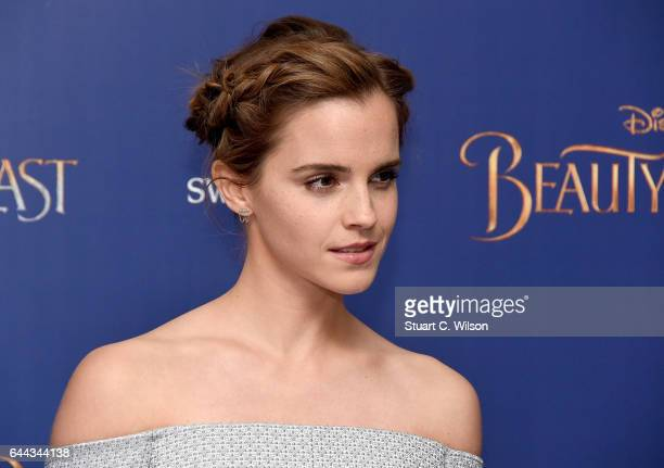 Emma Watson attends UK launch event for Disney's 'Beauty And The Beast' at Odeon Leicester Square on February 23 2017 in London England