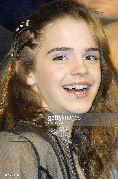Emma Watson during 'Harry Potter and the Chamber of Secrets' DVD Launch at Leavesden Studios in Hertfordshire Great Britain
