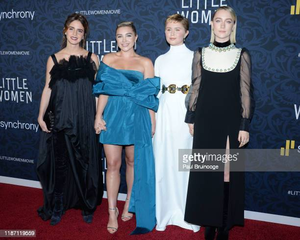 Emma Watson Florence Pugh Eliza Scanlen Saoirse Ronan attend Little Women World Premiere on December 7 2019 at Museum of Modern Art in New York City