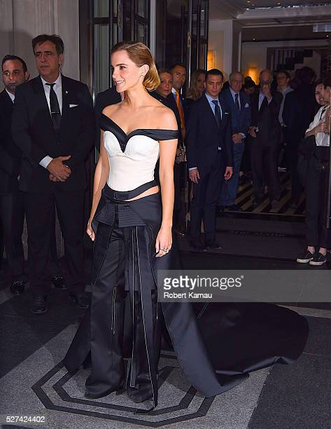 Emma Watson head to MET Gala on May 2 2016 in New York City