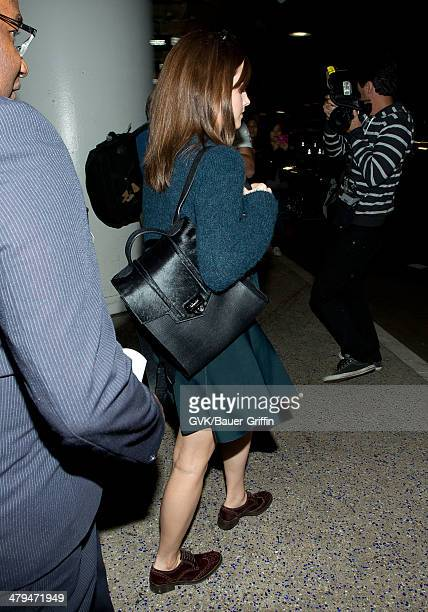 Emma Watson is seen at LAX airport on March 18 2014 in Los Angeles California